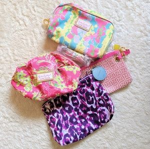 Lilly Pulitzer x Estee Lauder Make Up Bags
